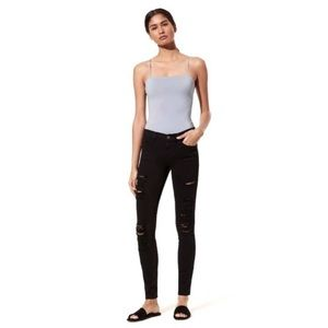FRAME Le Color Rip Distressed Skinny Jeans